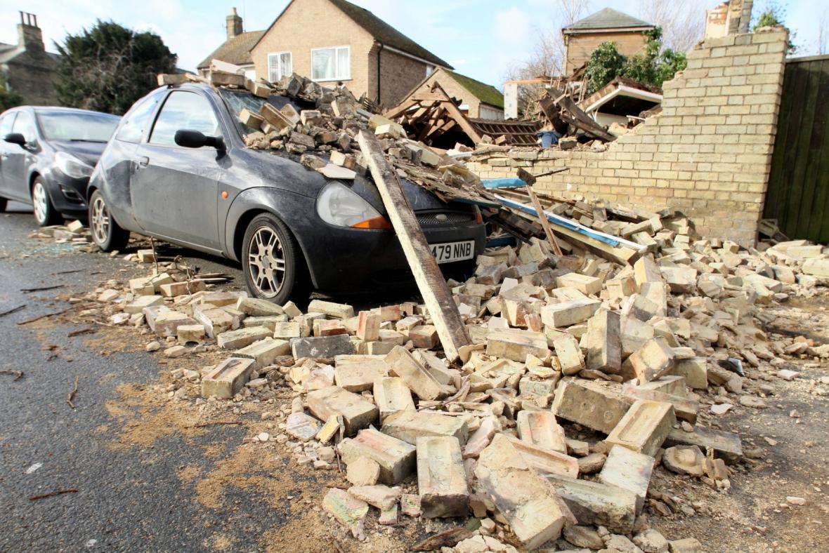 Následky bouře v hrabství Cambridge