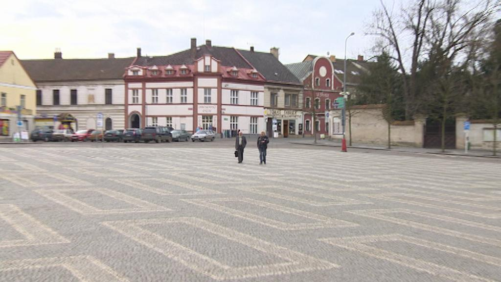 Současná podoba Kupkova náměstí v Opočně
