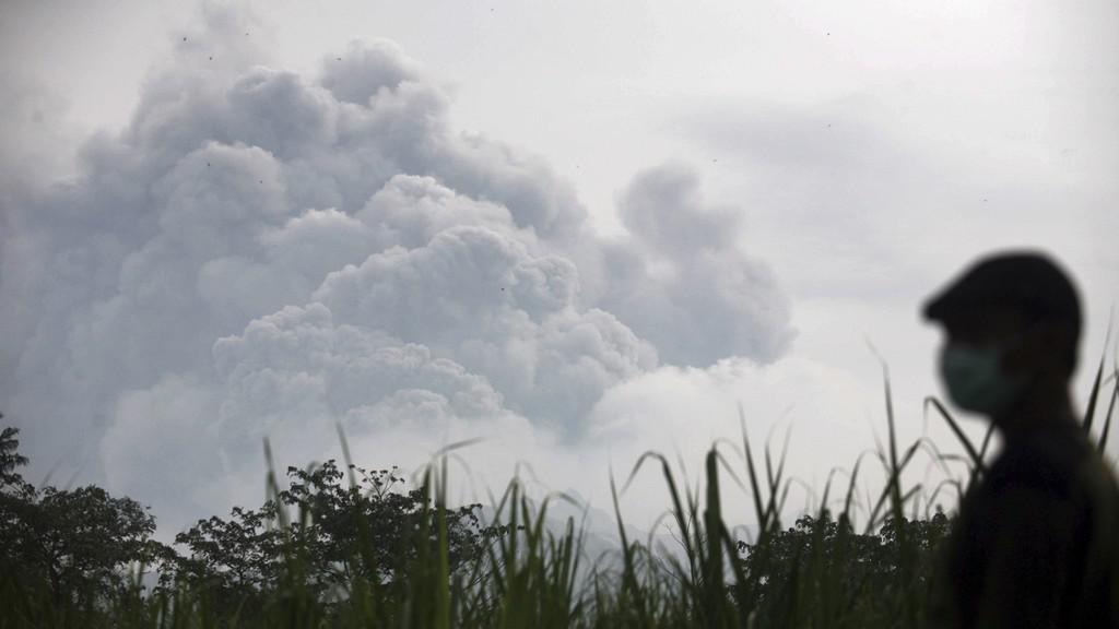 Výbuch indonéské spoky Mount Kelud