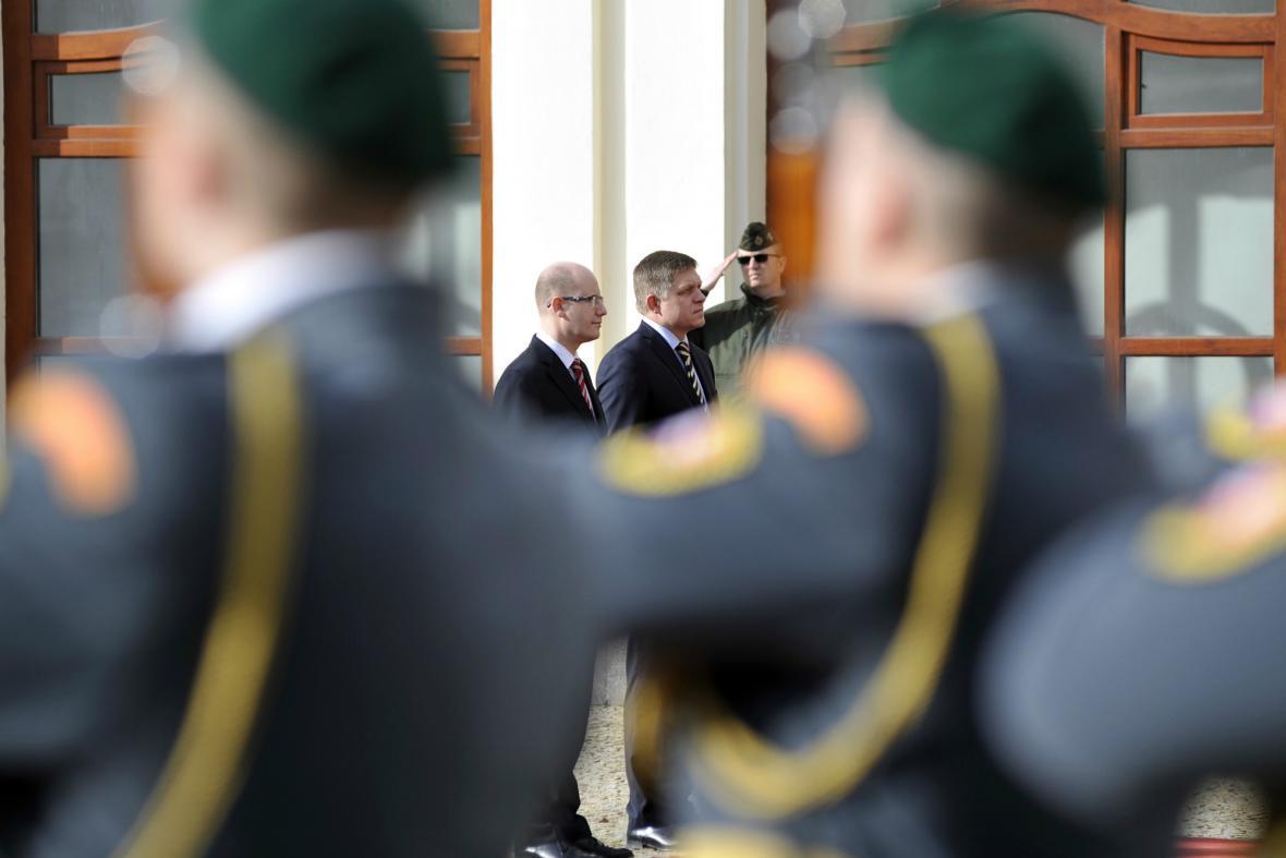 Bohuslav Sobotka na oficiální návštěvě Slovenska
