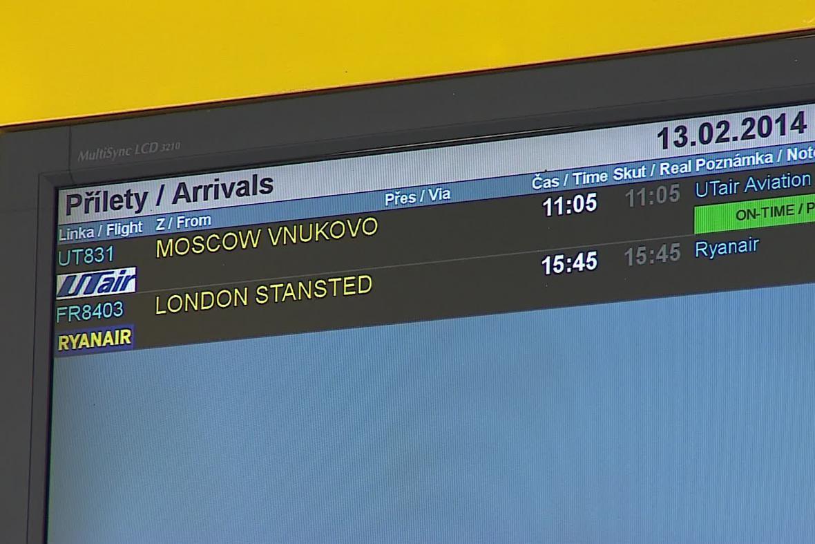 Přílety na brněnské letiště