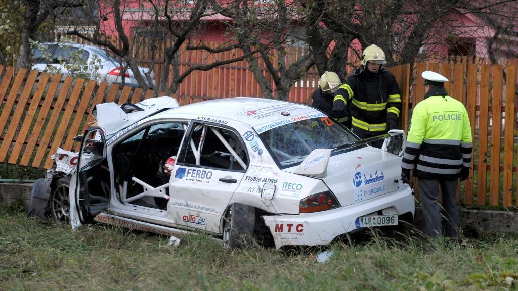 Nehoda na rallye u obce Lopeník