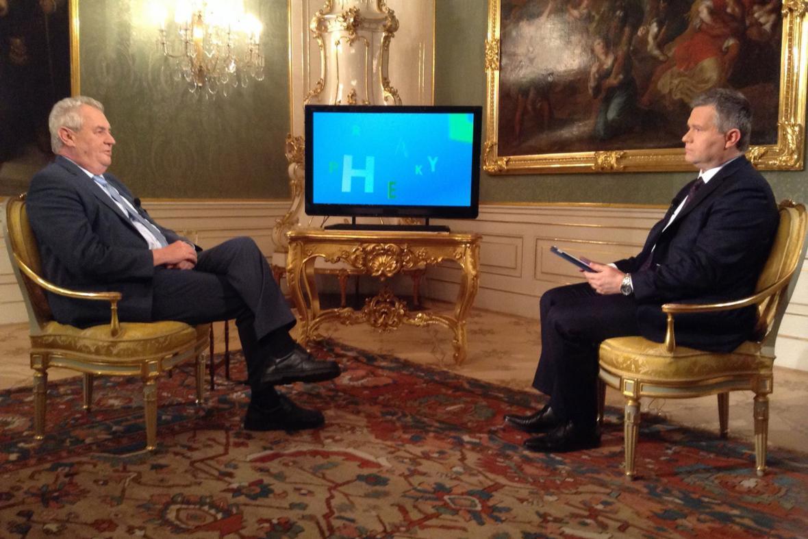 Prezident Miloš Zeman v Hyde Praku ČT24