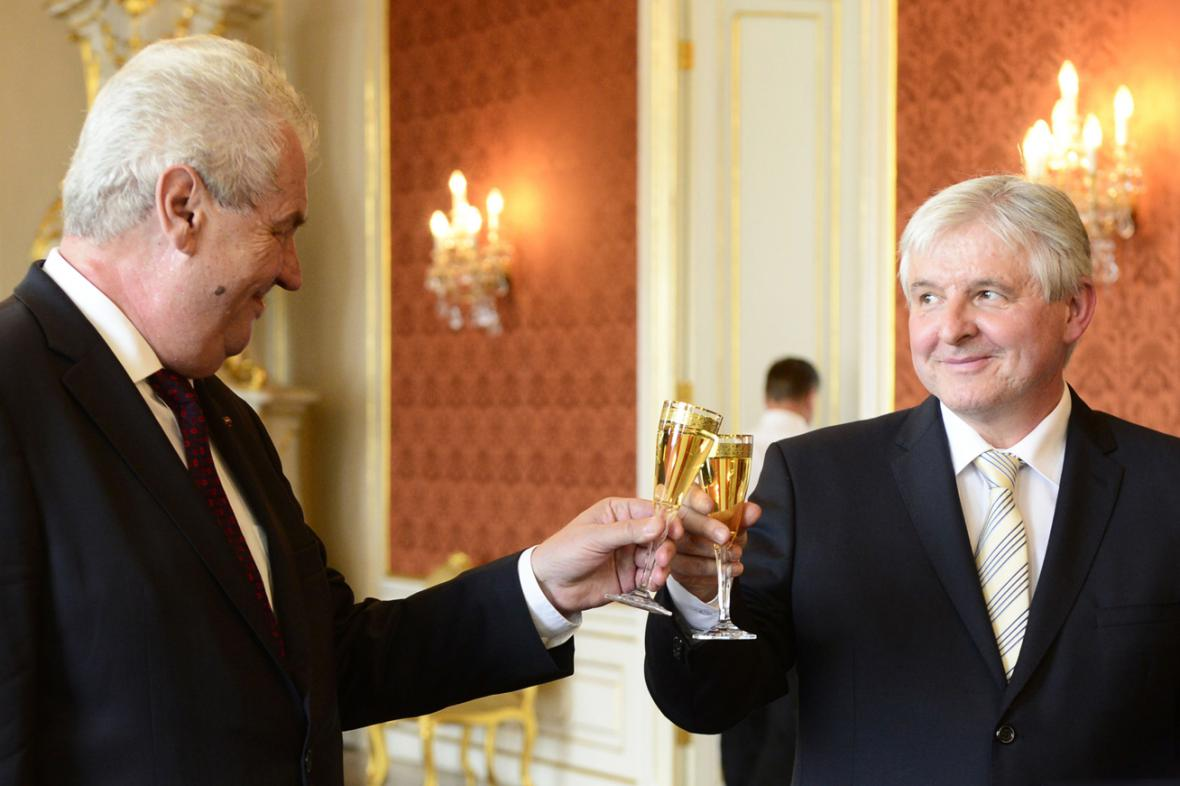 Miloš Zeman a Jiří Rusnok