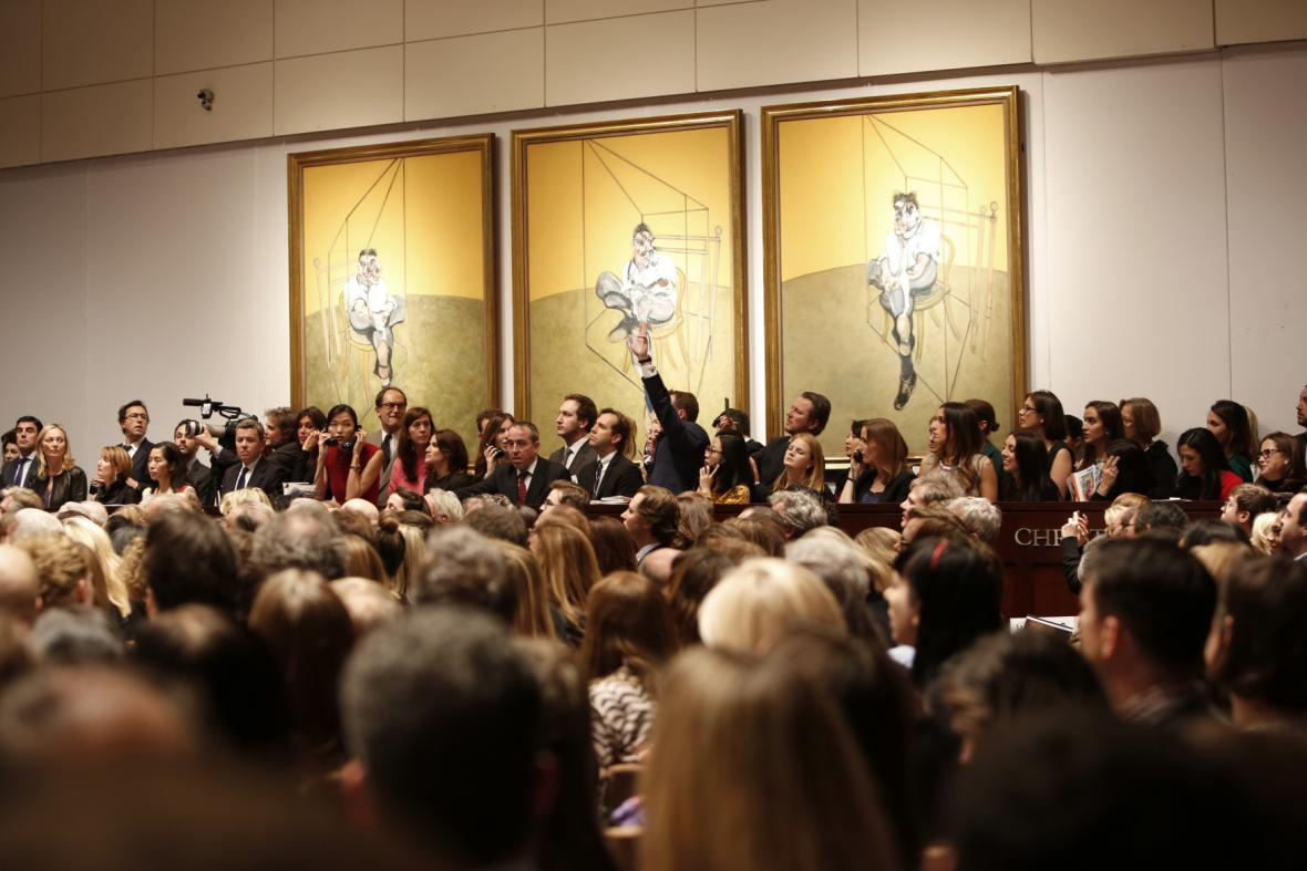 Aukční síň Christie's během rekordní dražby