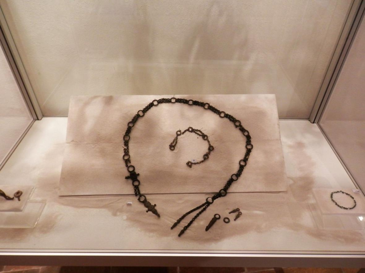 Výstava keltských šperků v Lounech