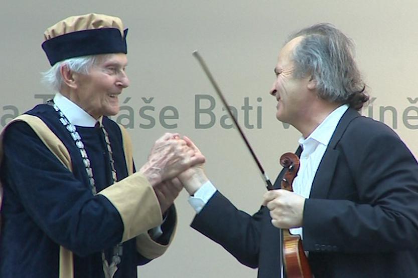 Zikmundovi při ceremonii zahrál virtuos Hudeček