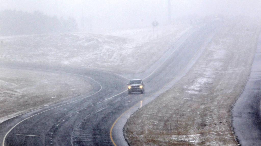 Sněhová bouře v Severní Karolíně