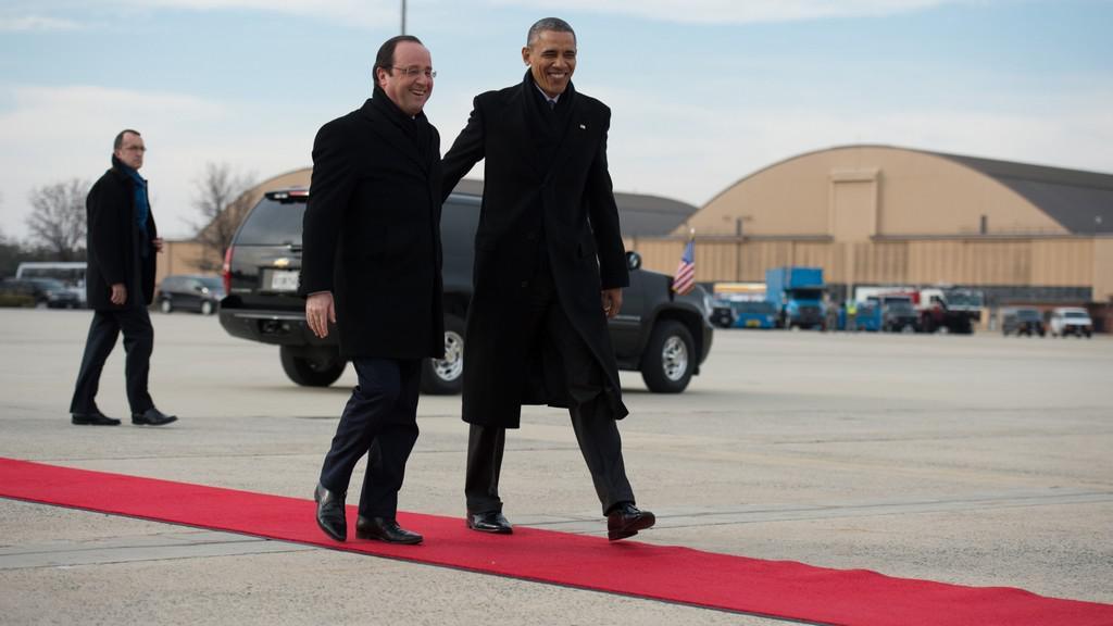 Francouzský prezident na návštěvě USA