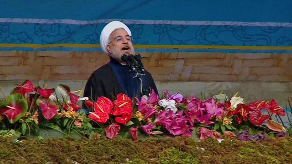 Hasan Ruhání na oslavách 35. výročí islámské revoluce