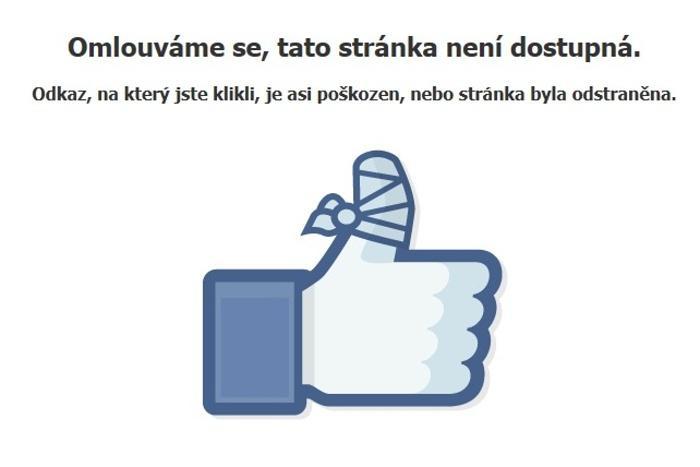 Zrušená facebooková stránka