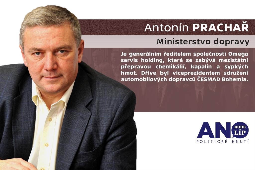 Antonín Prachař – ministerstvo dopravy