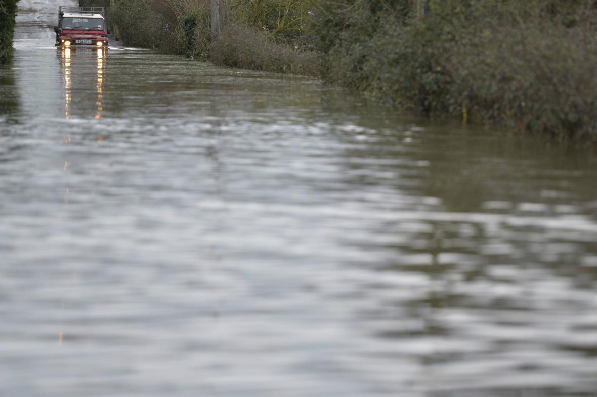 Zaplavená oblast Británie