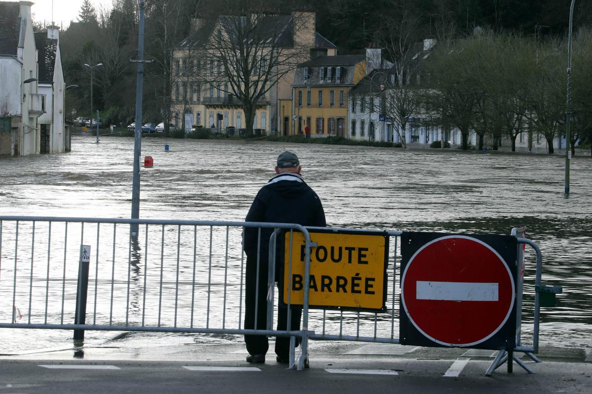 Vytrvalé deště zaplavily Bretaň