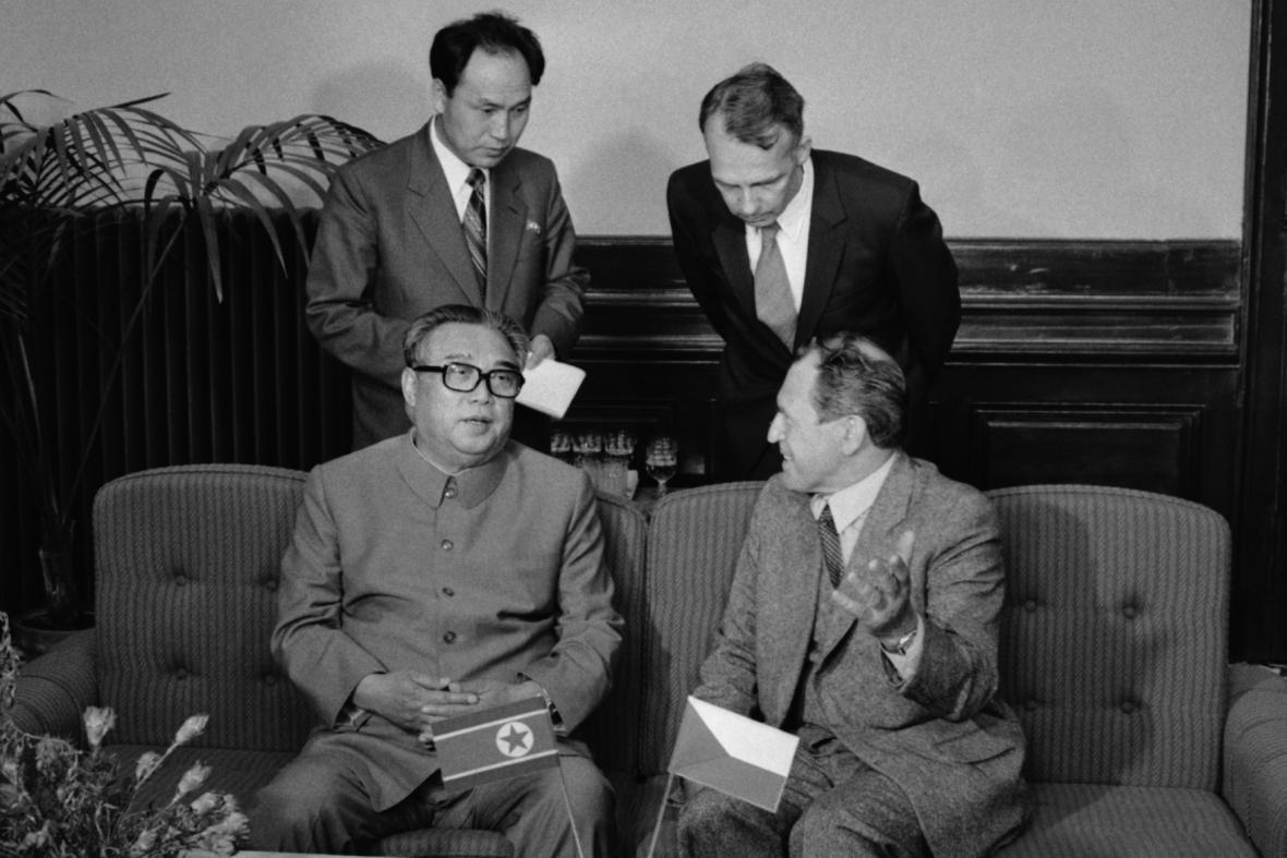 Kim-Ir-sen a Vasil Biĺak (1984)