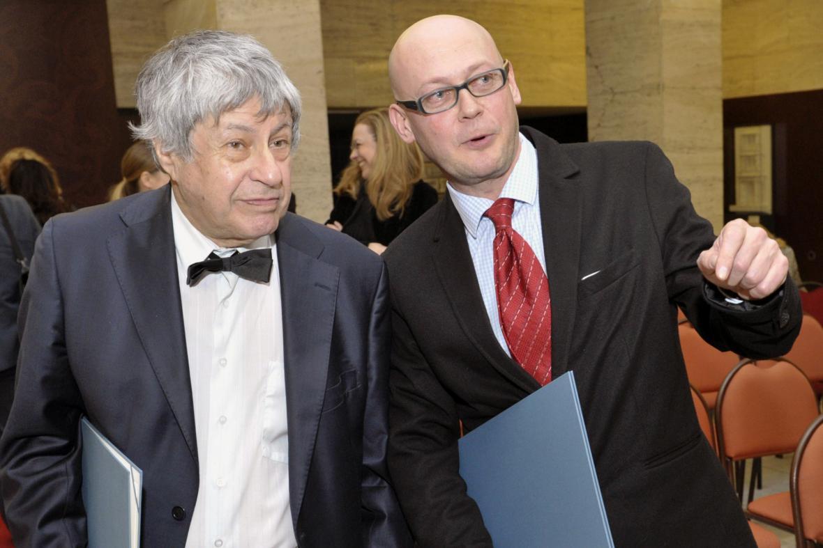 Ivan Klíma (vlevo) a Jiří Peňás (vpravo)