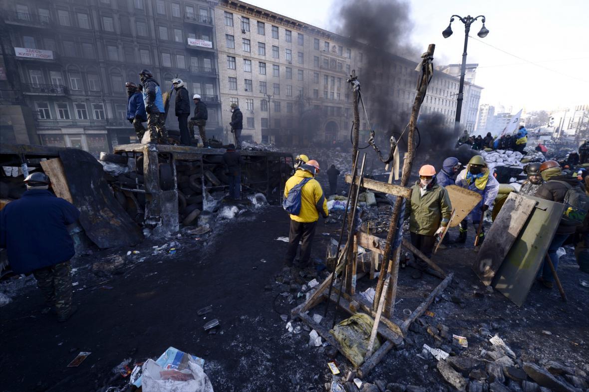 Ulice v centru Kyjeva