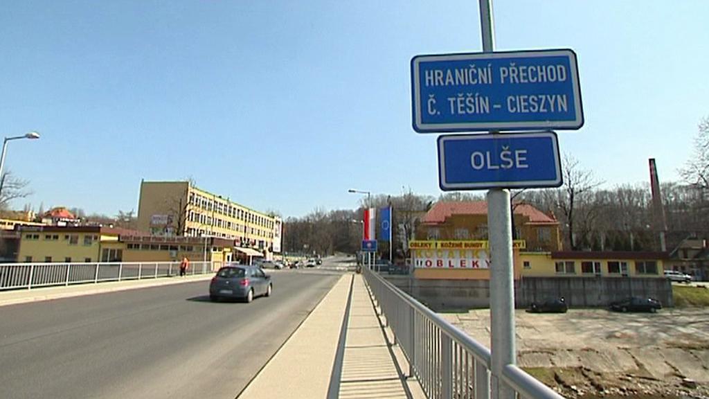 Most Svobody na česko-polské hranici v Těšíně