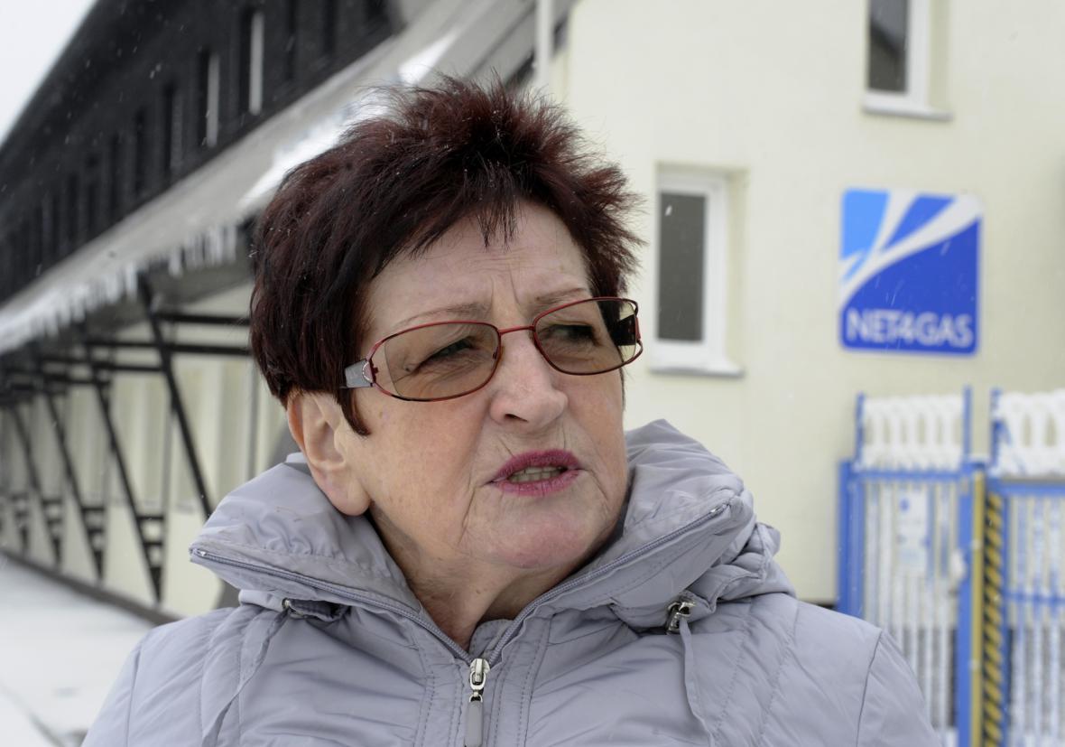 Starostka Hory Svaté Kateřiny Hana Řebíková