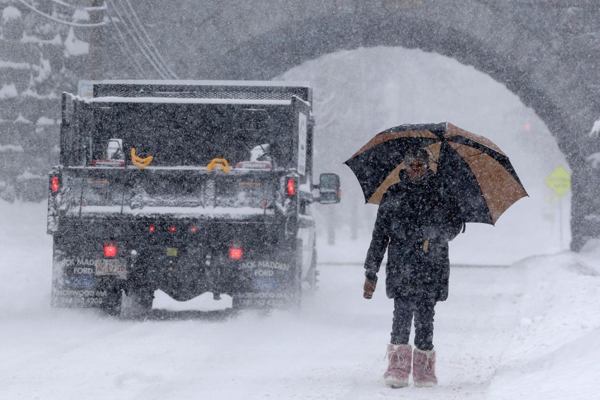 Sněhová kalamita v americkém Norwoodu