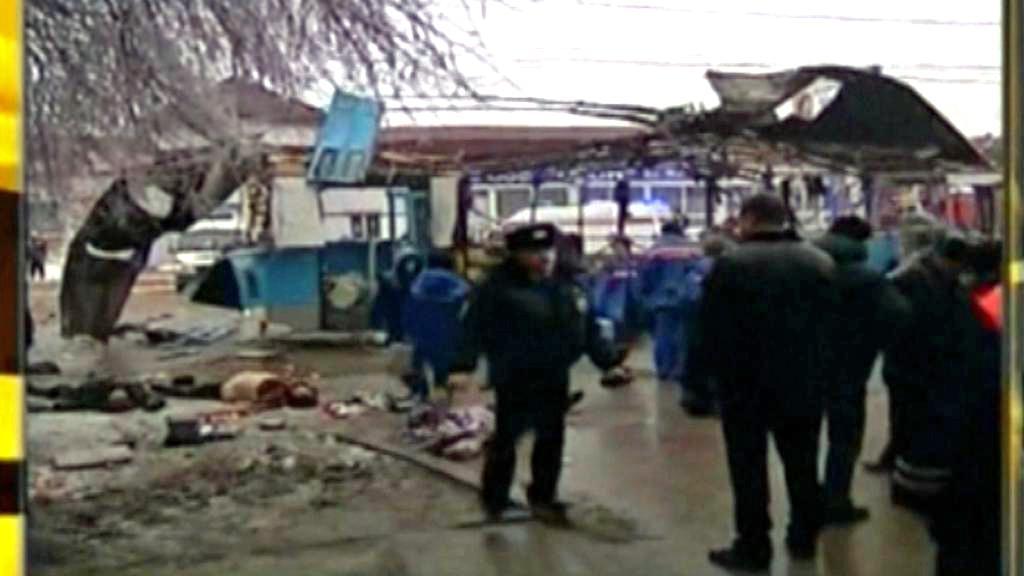 Výbuch trolejbusu ve Volgogradě