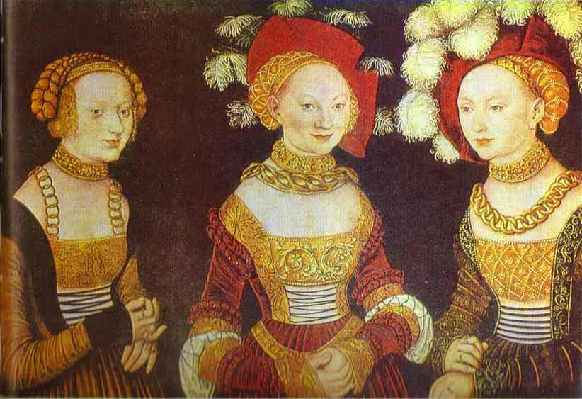 Lucas Cranach - Saské princezny
