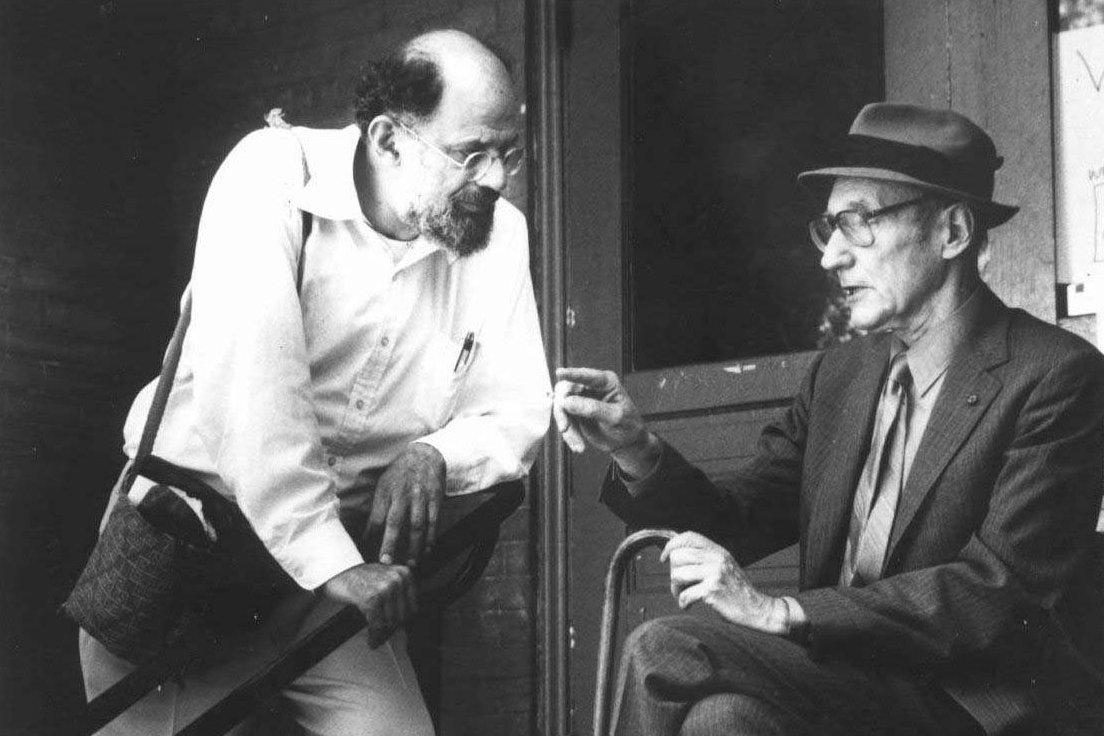 Allen Ginsberg a William S. Burroughs, nedatovaný snímek