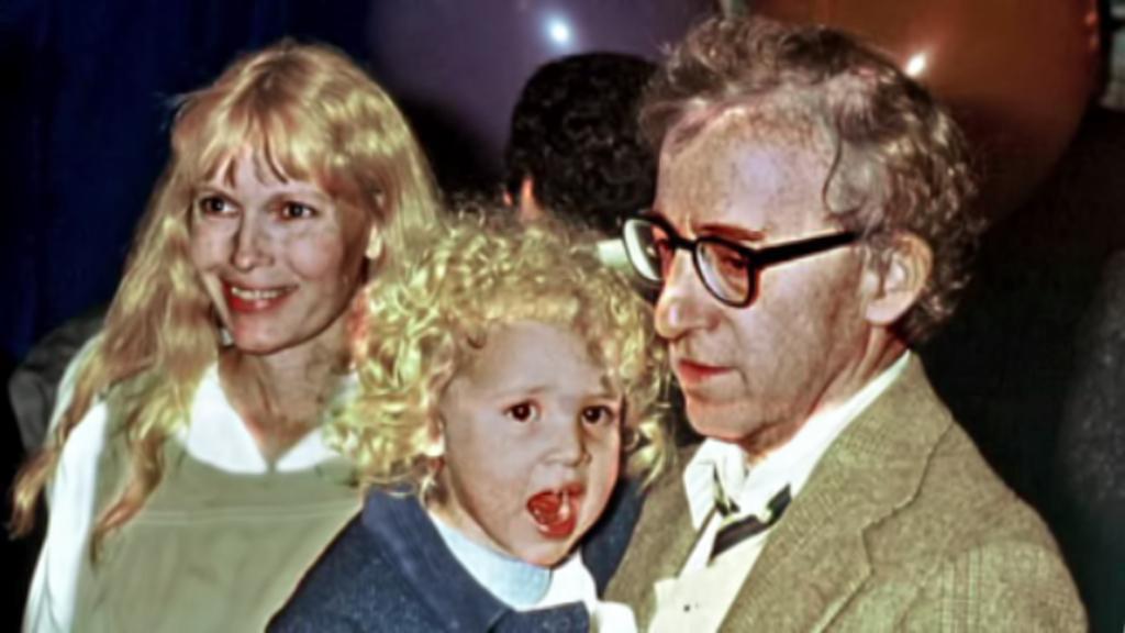 Mia Farrowová, Dylan a Woody Allen