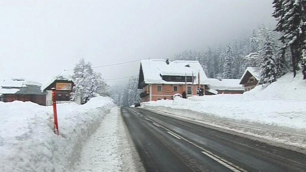 Rakousko se potýká s přívaly sněhu
