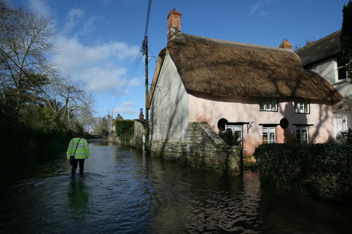 Jihozápadní Anglii trápí povodně
