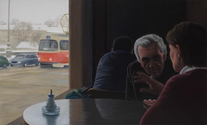 Obraz Ivany Lomové na výstavě Intimní interakce
