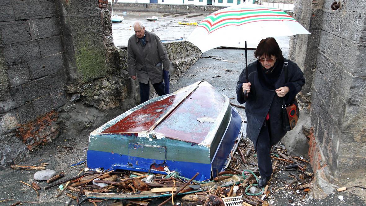 Pozůstatek bouře v jihozápadní Francii