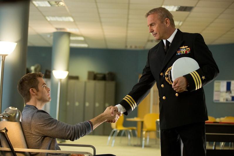 Chris Pine a Kevin Costner