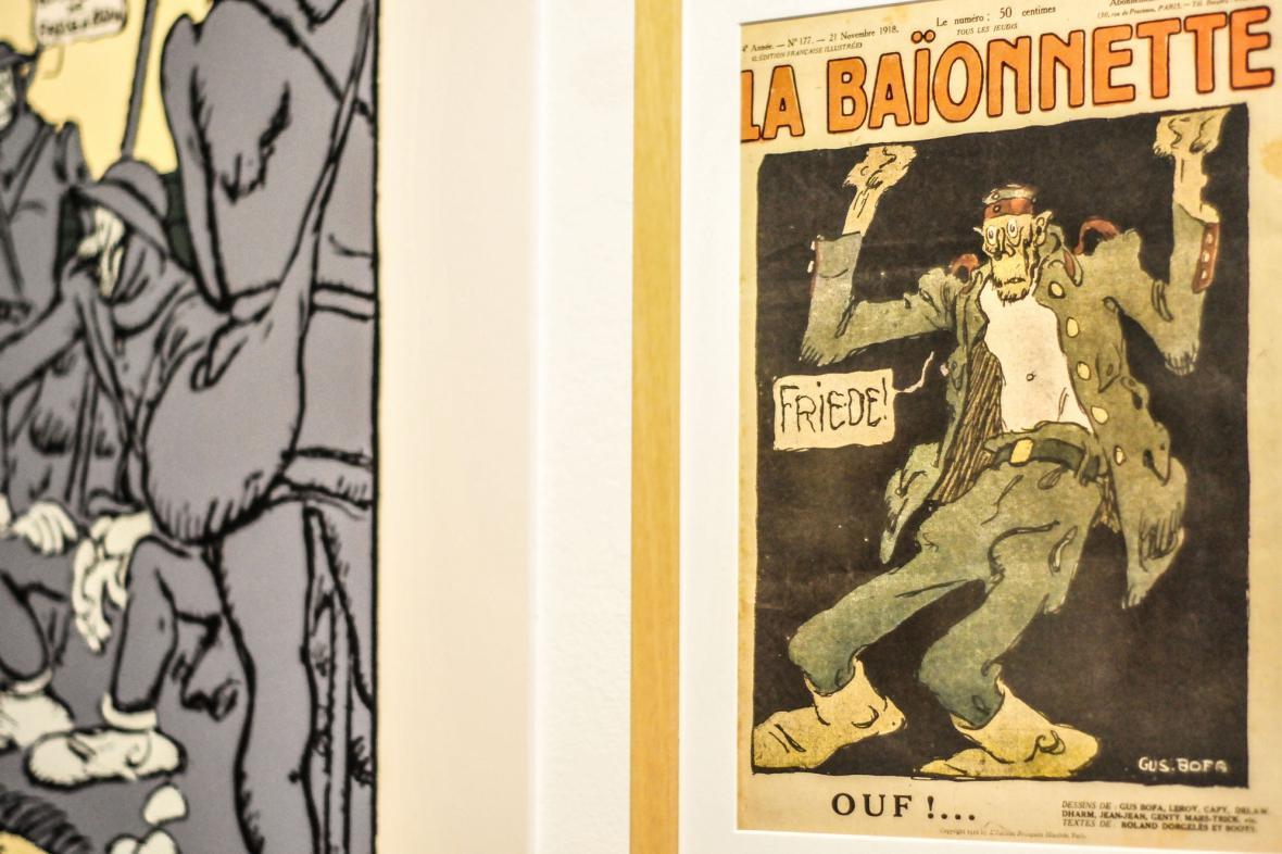 Originální obálky časopisů od ilustrátora Guse Bofa z let 1914-1918