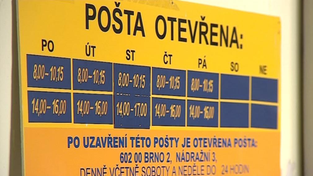 Otevírací doba malých pošt bývá velmi omezená