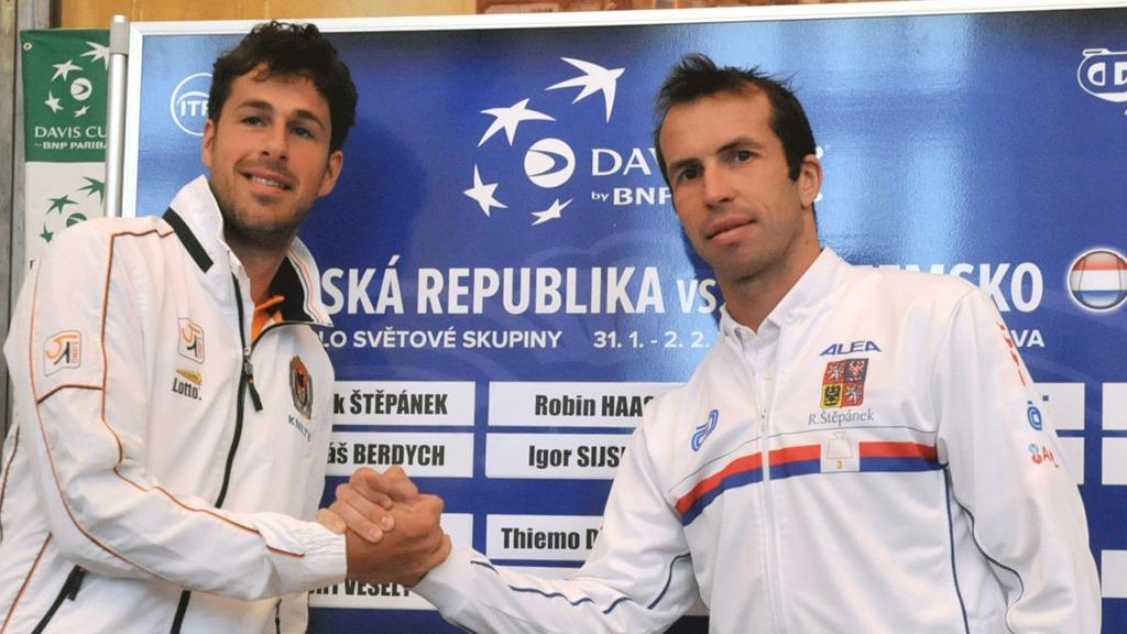 Robin Haase a Radek Štěpánek