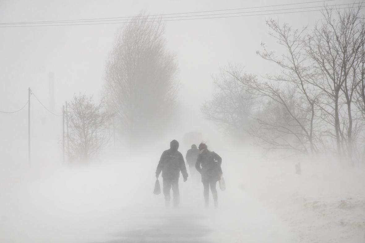 Sněhová bouře v Maďarsku