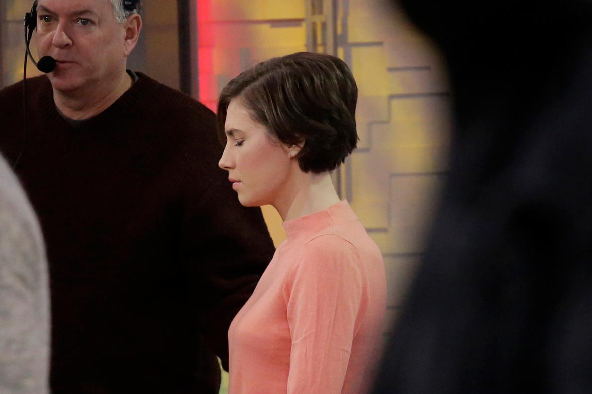 Amanda Knoxová před rozhovorem pro ABC