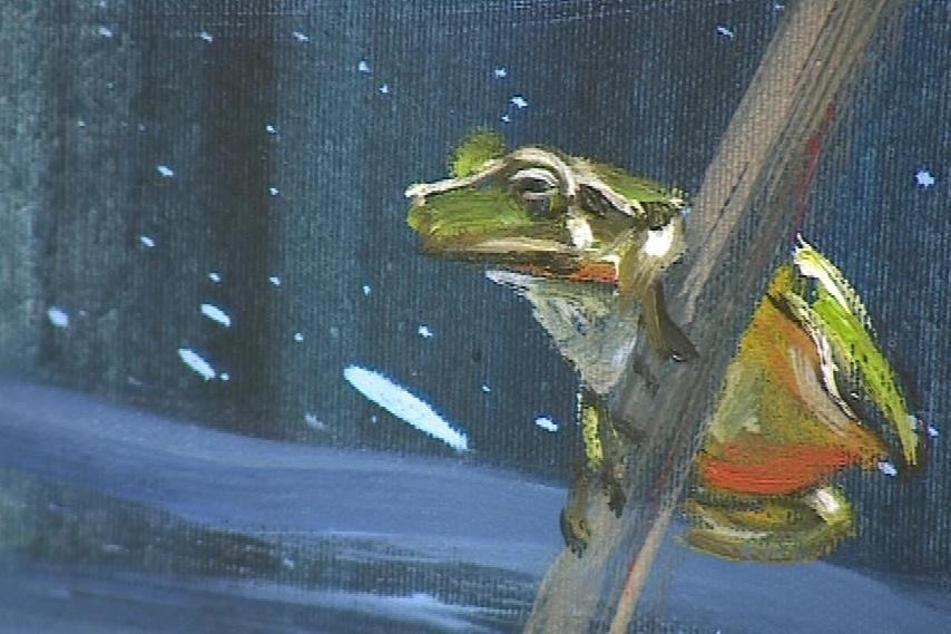 V detailech umělec používá realistickou malbu