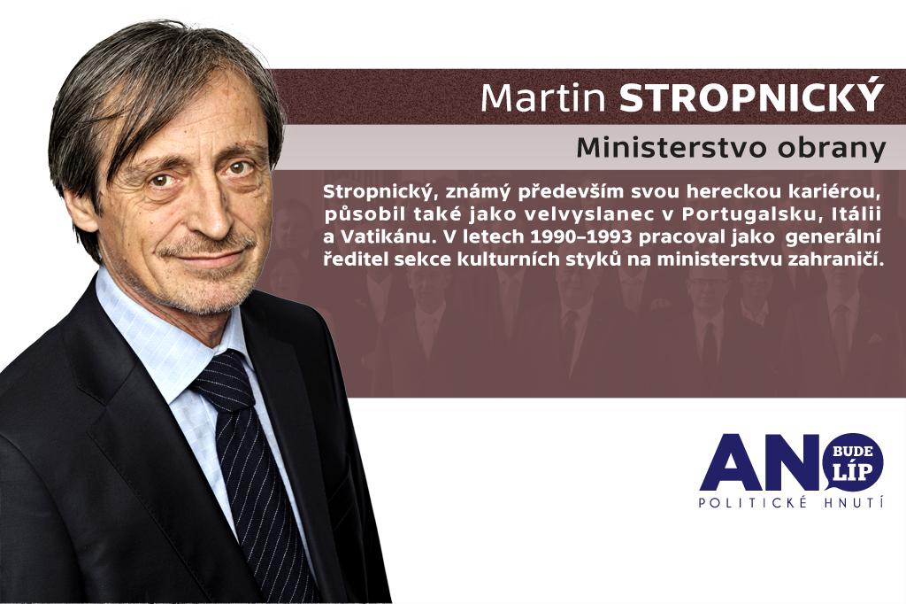 Martin Stropnický – ministerstvo obrany