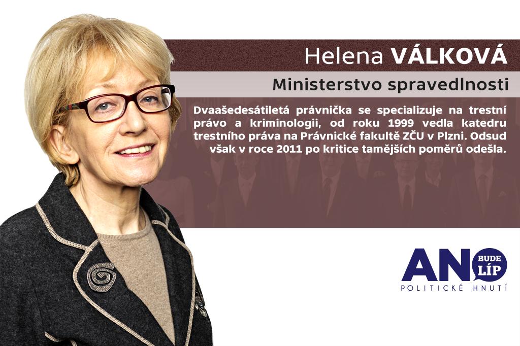 Helena Válková – ministerstvo spravedlnosti