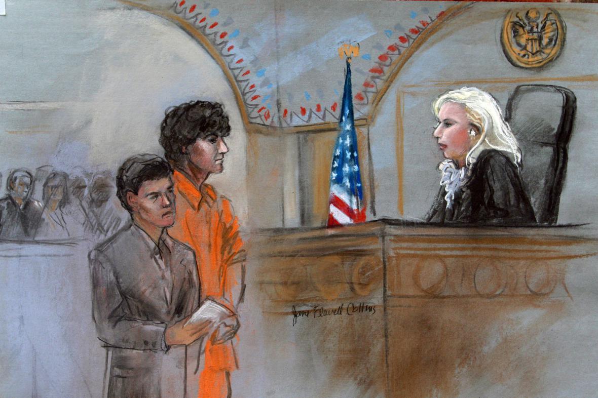 Džochar Carnajev před soudem
