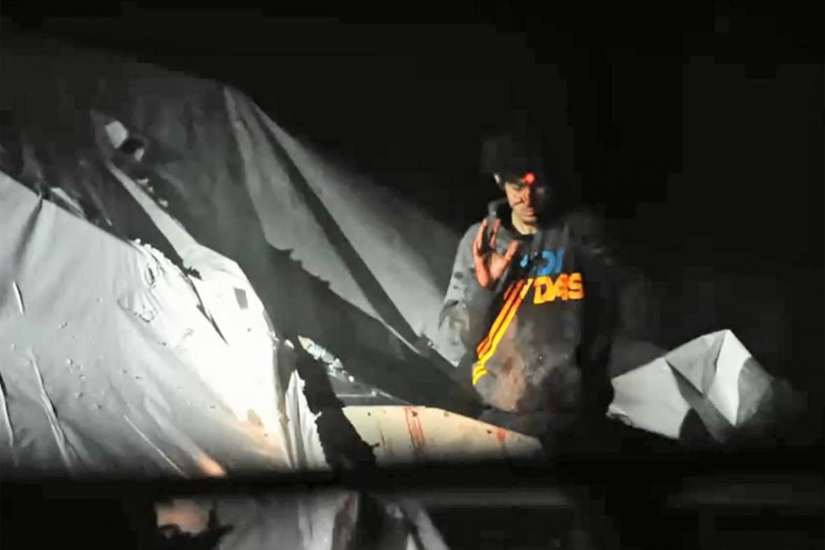 Snímek ze zatýkání Džochara Carnajeva