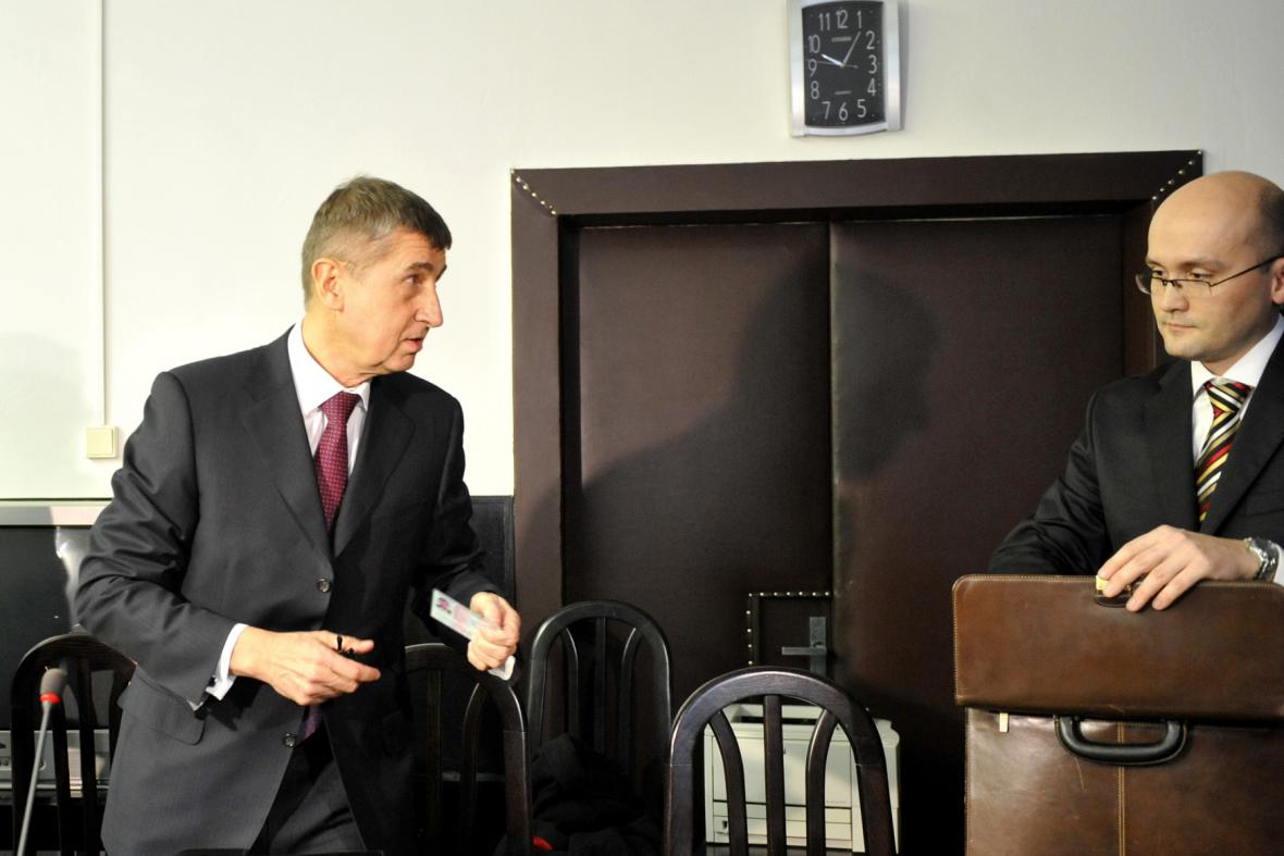 Andrej Babiš u soudu na Slovensku