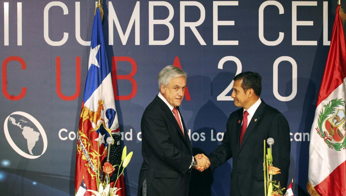 Prezidenti Chile a Peru Sebastián Piňera a Ollanta Humala