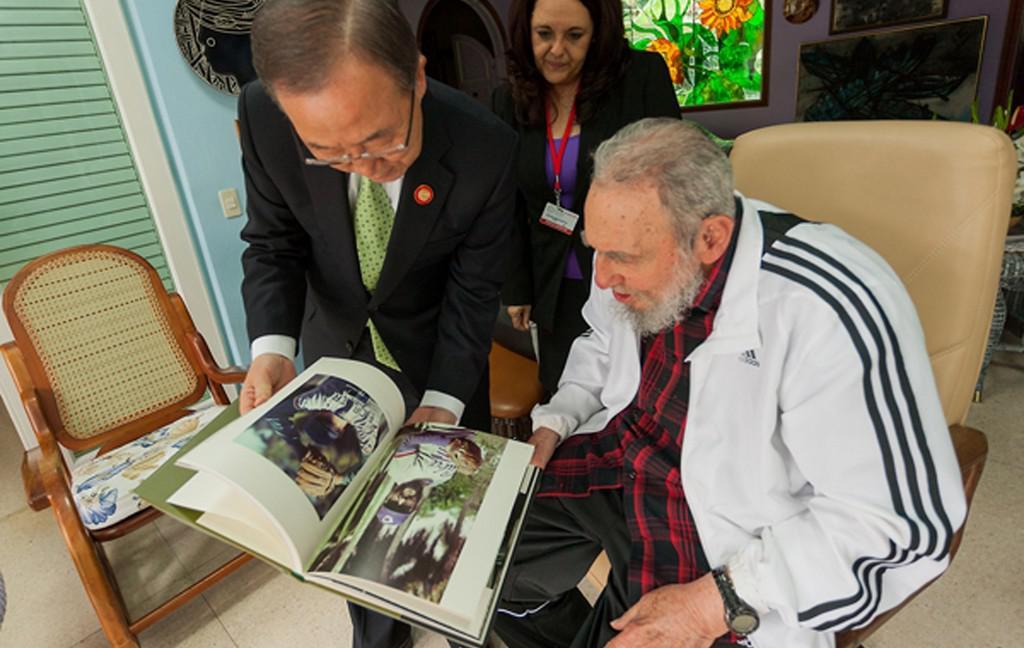 Pan Ki-Mun a Fidel Castro