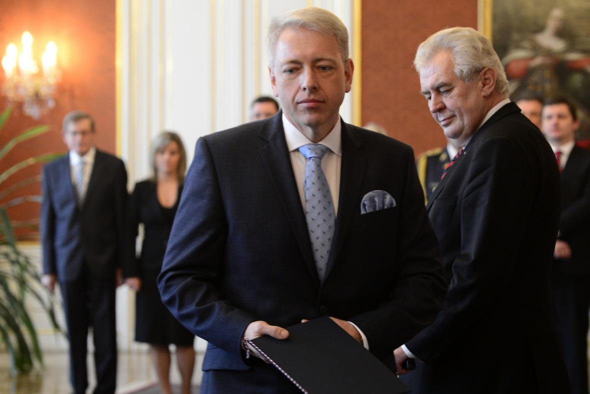Jmenování Milana Chovance ministrem vnitra