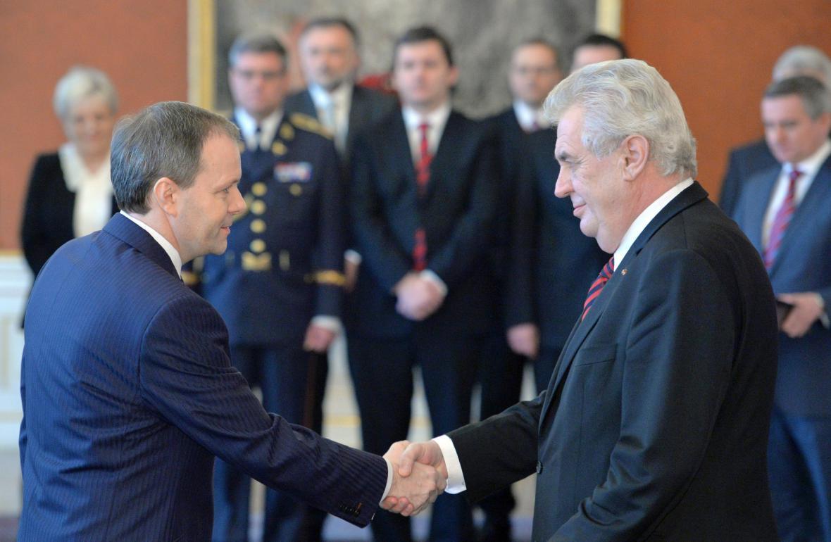 Prezident jmenuje Marcela Chládka (ČSSD) ministrem školství