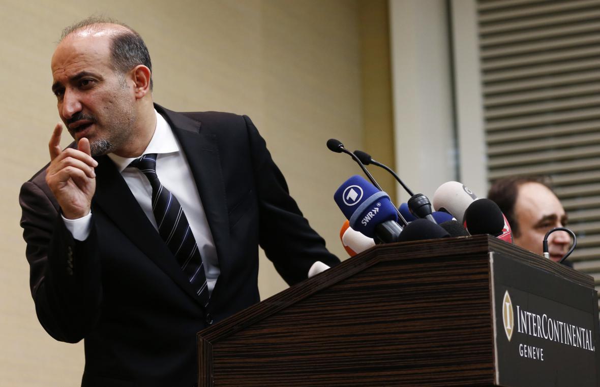 Zástupce syrské opozice Ahmad Džarba