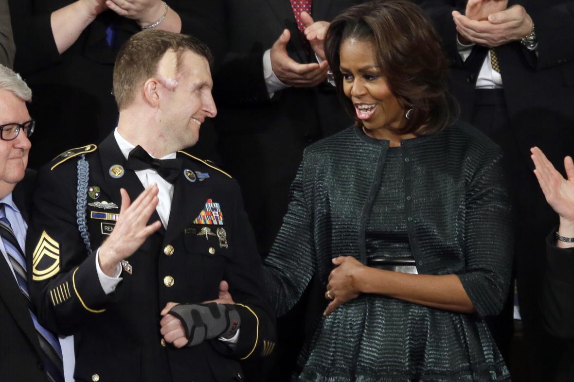 První dáma s vojákem zraněným v Afghánistánu